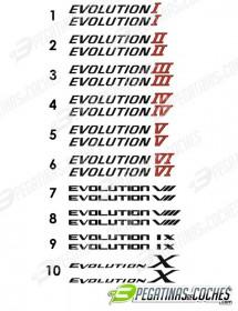 Evolution I-II-III-IV-V-VI-VII-VIII-IX-X