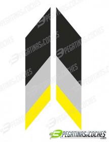 Franjas tricolor Opel