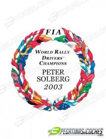 Escudo Peter Solberg 2003