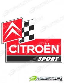 Logo Citroen Sport Bandera