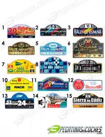 Placas de Rallye