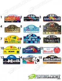 Placas de Rallye Nacional