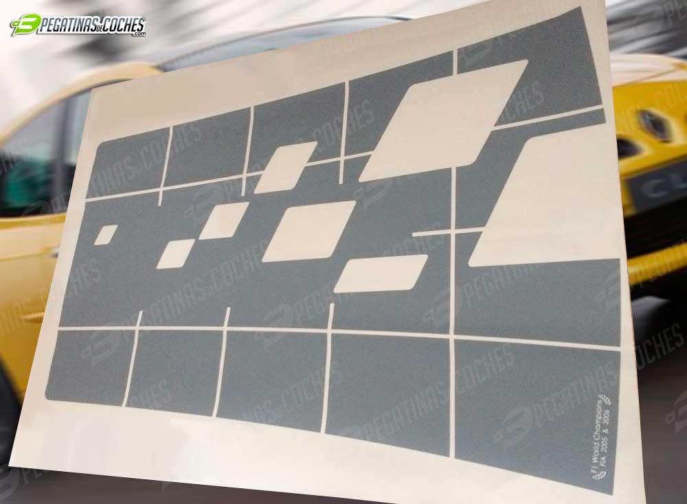 Pegatina del techo del Clio Sport III R27